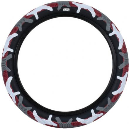 "Cult 20"" Vans Tyre - Pair of Red Camo With Black Sidewall 2.40"""